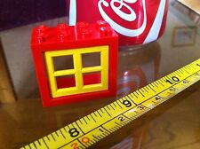Lego Yellow Window Red Block House Bricks Collectable Vintage Toy Original
