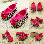 0-18M Girl Kids Leopard Flower Baby Shoes Soft Sole Newborns Toddlers Crib Shoes