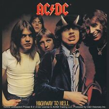 AC/DC Highway To Hell LP Cover vinyl sticker 100mm x 10mm (cv)