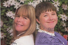 PAULINE QUIRKE & LINDA ROBSON HAND SIGNED & DEDICATED PROMO PHOTOGRAPH 6 x 4