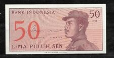 INDONESIA #94a 1964 OLD UNUSED VINTAGE 50 SEN BANKNOTE NOTE PAPER MONEY