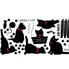 Mignon Chat DIY Famille Sticker Mur Autocollant Mural Déco Chambre Salon Maison