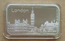 1oz Pure Silver 999  Bar - LONDON .(9)