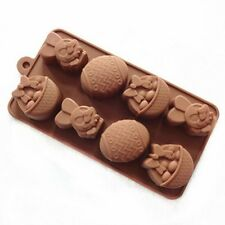 Cake Mold, Soap Mold Rabbit Easter Egg Mold Silicone Mould For Candy Chocolate