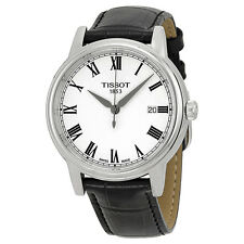 Tissot Carson White Dial Black Leather Mens Watch T0854101601300