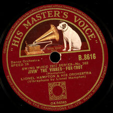 LIONEL HAMPTON & HIS ORCH. Stomp / Jivin' the vibres;Schellackplatte 78rpm X2120