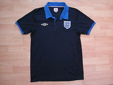 ENGLAND UMBRO NAVY FOOTBALL SOCCER TRAINING POLO SHIRT JERSEY TOP MEDIUM ADULT