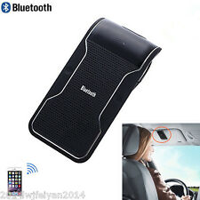 Car SUV Wireless Handsfree Speaker Phone Sun Visor Clip Bluetooth Microphone Kit