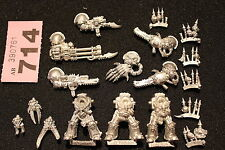 Warhammer 40k Chaos Space Marines Terminators Squad 3 x Metal Figures Complete