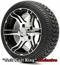 "Golf Cart 12"" Mach/Black ""STINGRAY"" Wheels and 215/35-12 DOT Low Profile Tires"