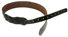 CUSTOM HANDMADE LEATHER GUITAR STRAP PLAIN BROWN BY AMERICAN HANDCRAFTED LEATHER