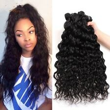8A 400g/4bundles Unprocessed Brazillian Water Wave Human Hair 20,22,24,26