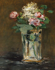 Manet Edouard Flowers In A Crystal Vase Print 11 x 14  #5793