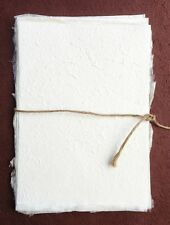 10 pcs.of Handmade SAA MULBERRY Paper - Natural White Invitation, piecing