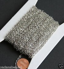 32ft of Antiqued Silver Plated Flat Cable Chain, bulk silver chain