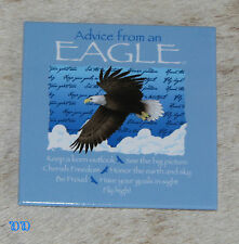 "LEANIN TREE ""Advice From An Eagle"" ~#26350 Magnet ~ Cherish Freedom * Be Proud ~"