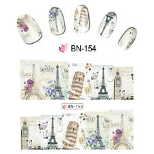 Nail Art Manicure Water Transfer Decal Sticker Great Building BN154