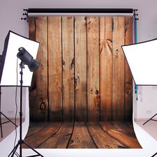 5x7FT Wood wall Floor Vinyl Photography Backdrop Photo Background Studio Props
