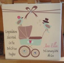 Handmade Personalised Birth / Baby Shower / Leaving To Have A Baby Card