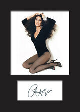 CHER A5 Signed Mounted Photo Print - FREE DELIVERY