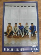 HIGHLIGHT - CAN YOU FEEL IT? (TYPE C) [ORIGINAL POSTER] *NEW* K-POP BEAST B2ST