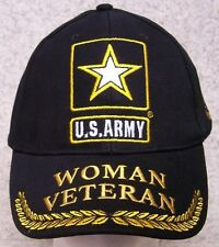 Embroidered Baseball Cap Military Woman Warrior Army Veteran NEW 1 hat fit all