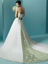 ORG $899 Alfred Angelo 1708 White 14 Formal Wedding Dress Bridal A-line Gown
