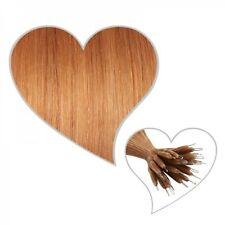 25 nano-ring extensions 60 cm copper blonde #71 Human hair instead of Microring