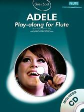 Adele Flute Sheet Music ~with CD~ Chasing Pavements, Set Fire to the Rain, More!