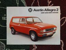 Década de 1970 Austin Allegro 2 folleto de ventas - 1300 & 1500 Estate