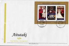 Aitutaki 2011 FDC Royal Wedding 2v Sheet Cover Prince William Kate Middleton