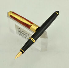 Duke Dream World Fountain Pen - Small Size, Black & Orange 14k Nib (New in Box)
