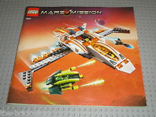 Notice Building instruction booklet LEGO MARS MISSION 7647 MX-41 Switch Fighter