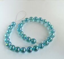 Aqua Aura 12mm Round Quartz Beads 1 lot of 30 beads