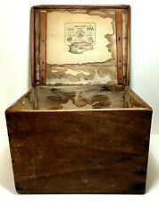 Antique Mid 19th Century LOUIS VUITTON Wood Hat Box w/ Paper Label PARIS FRANCE