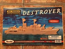 3-D Wood Craft Construction Kit Puzzle - Destroyer  #1409