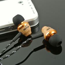 AWEI Super Bass Wooden in Ear Headphones Earphones Earbuds For iPhone MP3 Laptop