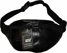 "New Leather waist pouch waist bag Fanny pack waist pack 48"" adjustable band BNWT"