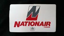 NATIONAIR CANADA AIRLINE UNUSED VINYL STICKER