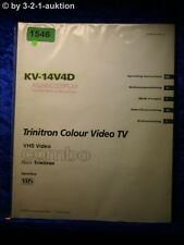 Sony Bedienungsanleitung KV 14V4D Color Video TV (#1546)