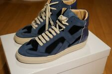 "MAISON MARTIN MARGIELA 6  ''BLUE suede Leather  "" HI-TOP SNEAKERS  37 size"