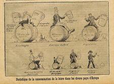 CONSOMMATION DE LA BIERE DANS DIVERS PAYS ILLUSTRATION 1911