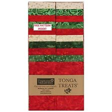 Timeless Treasures Tonga Treats Jingle Christmas Collection 40 Piece Jelly Roll