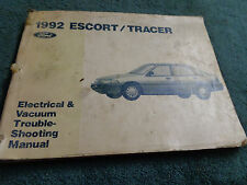 1992 FORD ESCORT MERCURY TRACER WIRING VACUUM DIAGRAM SHOP MANUAL ORIG BOOK