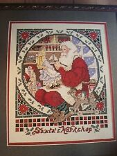 Santa's Workshop Christmas Cross Stitch Pattern