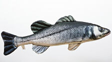SEA BASS  LABRAKS SOFT TOY FISH PILLOW GREAT FISHING GIFT Cushion NEW !
