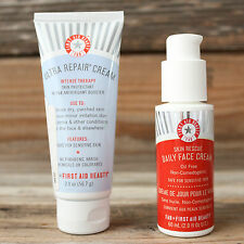First Aid Beauty Skin Rescue Daily Face Cream 2 oz + Ultra Repair Intense Therap
