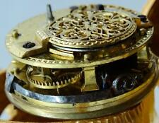 MUSEUM 18th C Verge Fusee Data Watch, Chinese Qing Dynasty gild bronze Fu Dog