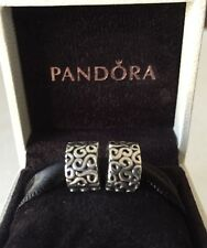 """AUTHENTIC PANDORA STERLING SILVER S SWIRL CLIP CHARMS LOT PANDORA SET """"RETIRED"""""""