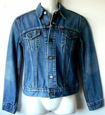 Levi Strauss & Co Denim Jacket Red Tab Vintage Style Girls M *Top Condition*
